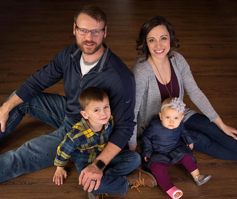 Chiropractor Olathe KS Amanda Buchanan With Family